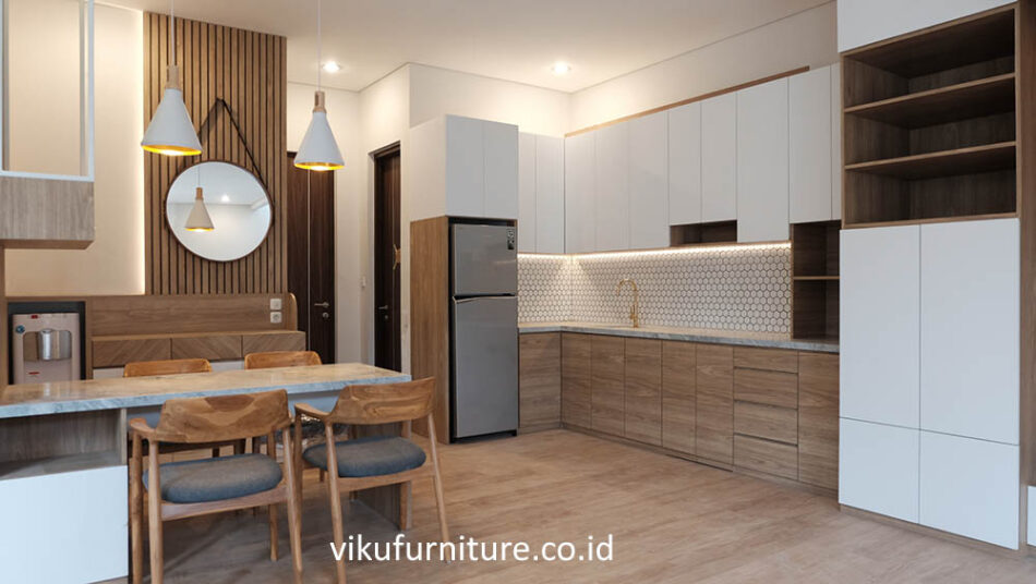 contoh kitchen set scandinavian
